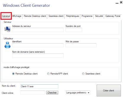 Générateur de client Windows