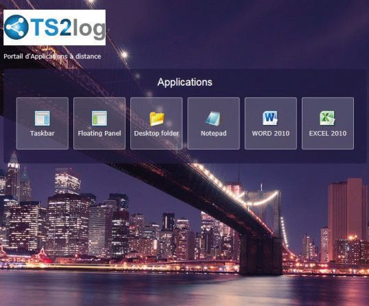 TS2Log Portail Web d'application