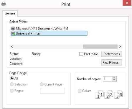 Imprimante universelle